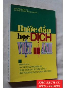 Bước Đầu Học Dịch Việt Anh