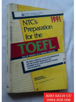Ntc's Preparation For The Toefl Test Of English As A Foreign Language