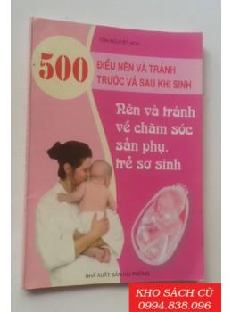 500 Điều Nên Và Tránh Trước Và Sau Khi Sinh