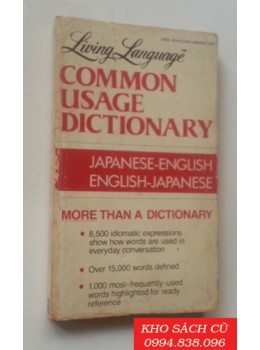 Living Language Common Usage Dictionnary: Japanese-English, English-Japanese